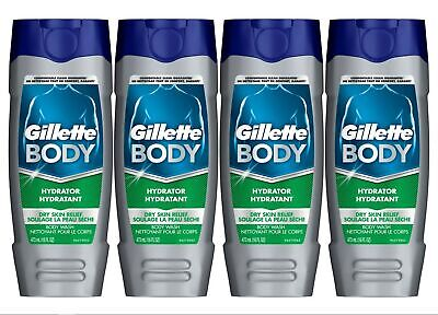 Gillette Body Hydrator Body Wash for Men, Dry Skin Relief, 16 Fluid Ounce (Pa... Hydrating Body Fluid