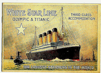 Titanic & Olympic Third Class Accommodation Booklet Pictures Facts Vintage 1912