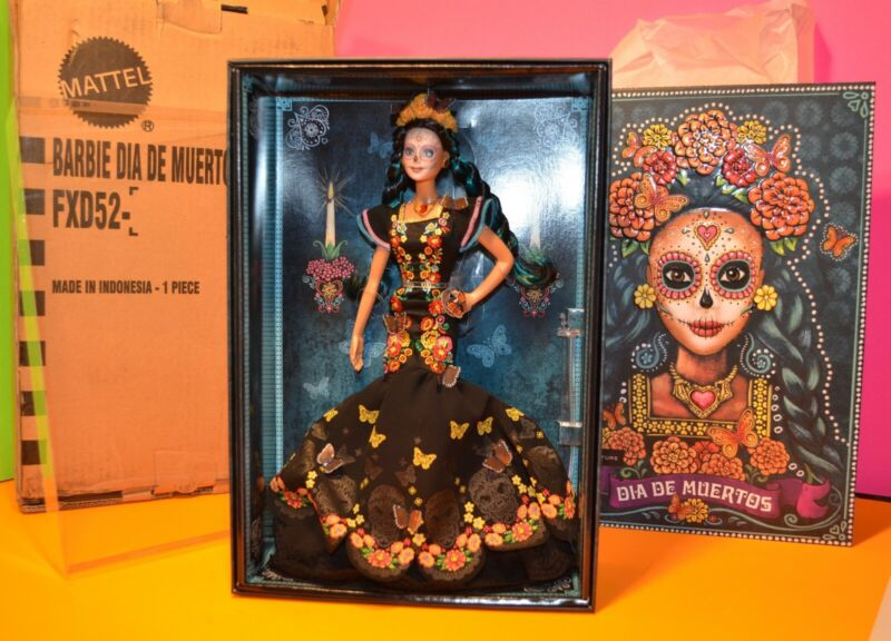New IN HAND FREE SHIPPING Barbie Dia De Los Muertos Doll 2019 Day of The Dead