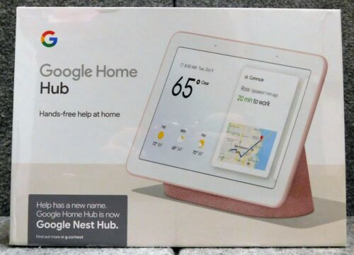 BRAND NEW IN BOX Google Nest Home Hub GA00517-US Pink NIB FREE SHIPPING!