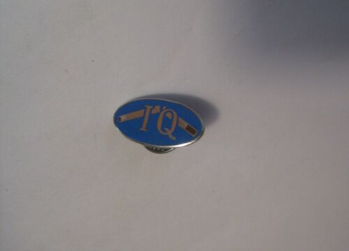 VINTAGE CURLING CLUB SPORTS CURLING ENAMEL PIN MARKED IQ