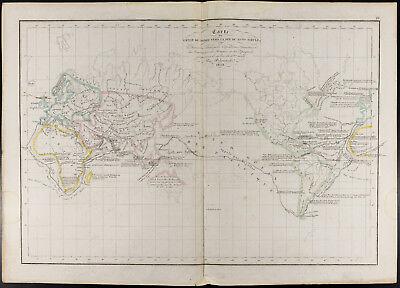 Große Antike Karte (1847, Landkarte Antik Große Entdeckungen und Erkundungen (Delamarche))