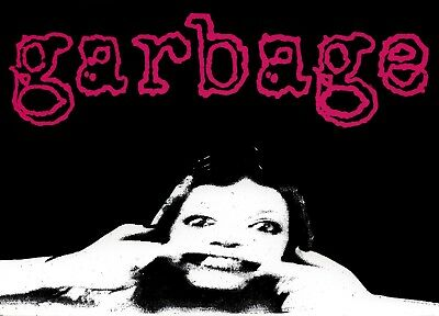 7930 Garbage Silly Face Pink Logo Shirley Manson 90s Rock Alt Sticker / Decal