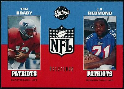TOM BRADY 2000 UPPER DECK VINTAGE /1000 ROOKIE CARD #14 PATRIOTS  -