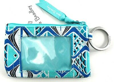 VERA BRADLEY Zip ID Case in GO FISH BLUE