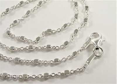 18 inch .925 Sterling Silver Chain Necklace,Genuine Solid Sterling Silver (#624)