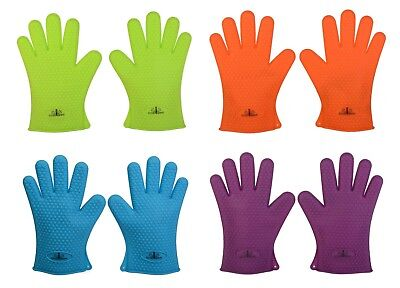 Silicone BBQ Gloves Heat Resistant Oven Mitts Grilling Or Cooking Use As (Heat Resistant Oven Mitts)