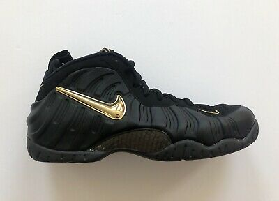 f77cbe403d9 Nike Air Foamposite Pro Black Metallic Gold Shoes 624041-009 Size Men s 10