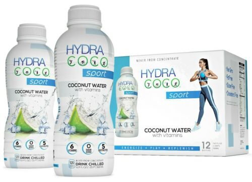 Hydra Coco Sport Vitamin Enhance Pure Coconut Water  12/Pack 16.9oz  (500ml)
