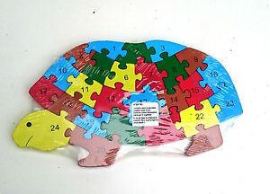 Madera-turtle-rompecabezas-rompecabezas-numeros-y-letras-colorido