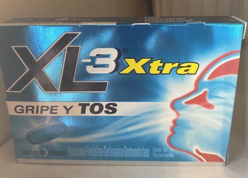 XL-3 Xtra Cold and Cough Medicine † Gripe y Tos † 12 Cap