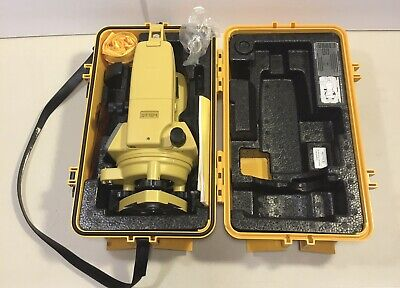 Topcon Dt-104 Digital Theodlite Transit Level With Case And Instruction Manual