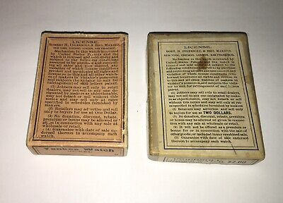 2 ANTIQUE INGERSOLL DOLLAR POCKET WATCH PRESENTATION BOX LOT boxes only