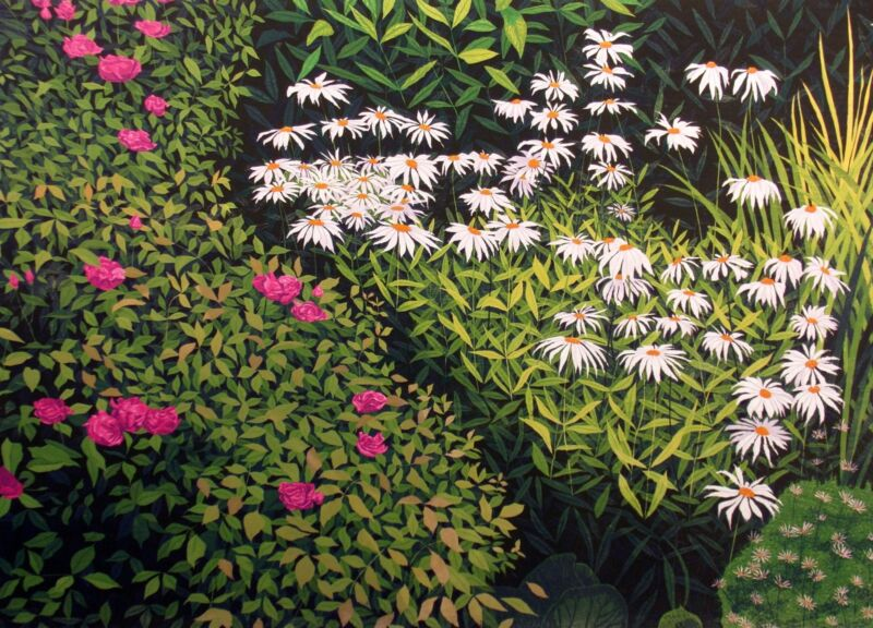 "Gordon Mortensen ""the Garden"" Signed & Numbered Woodcut Art Print, Make Offer!"
