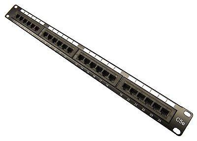 NEW CAT5e 24 Port Patch Panel RJ45 110 UL Network Ethernet 19