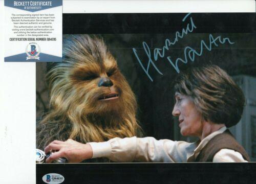 HARRIET WALTER signed (STAR WARS THE FORCE AWAKENS) 8X10 photo BAS BECKETT #8