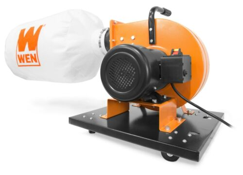 WEN DC3402 7.4-Amp 15-Gallon Bag Rolling Dust Collector with Induction Motor