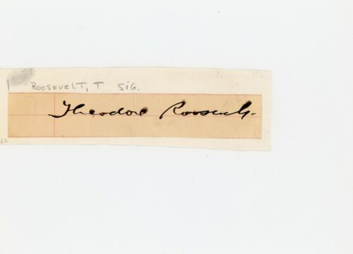 Theodore Roosevelt Autographed Signed Cut BAS BECKETT