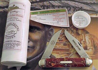 Great Eastern Muskrat Knife RARE Cinnamon Sugar Acrylic 23 Of 25 AAA+ MIB! NR