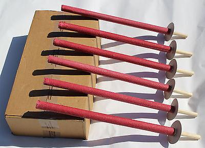 10 Stück Wachsfackel 45min Brenndauer Fackeln Gartenfackel