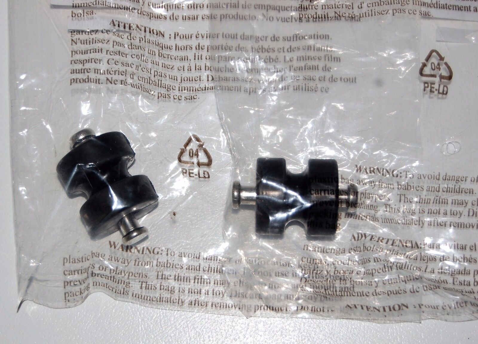 HUNTER VINTAGE CEILING FAN ORIGINAL  - 2 NEW RUBBER BUSHING ASSEMBLY WITH PIN