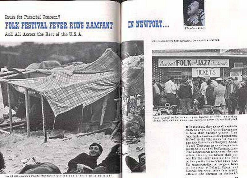 NEWPORT FOLK & JAZZ FESTIVAL 1965 PICTORIAL BOB DYLAN Joan Baez PETE SEEGER etc