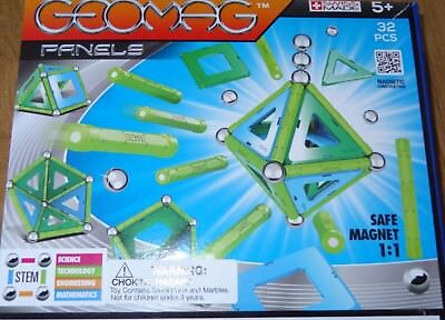 Geomag Panels 32 Piece Magnetic Building Construction Toy, Ages 5+ #460