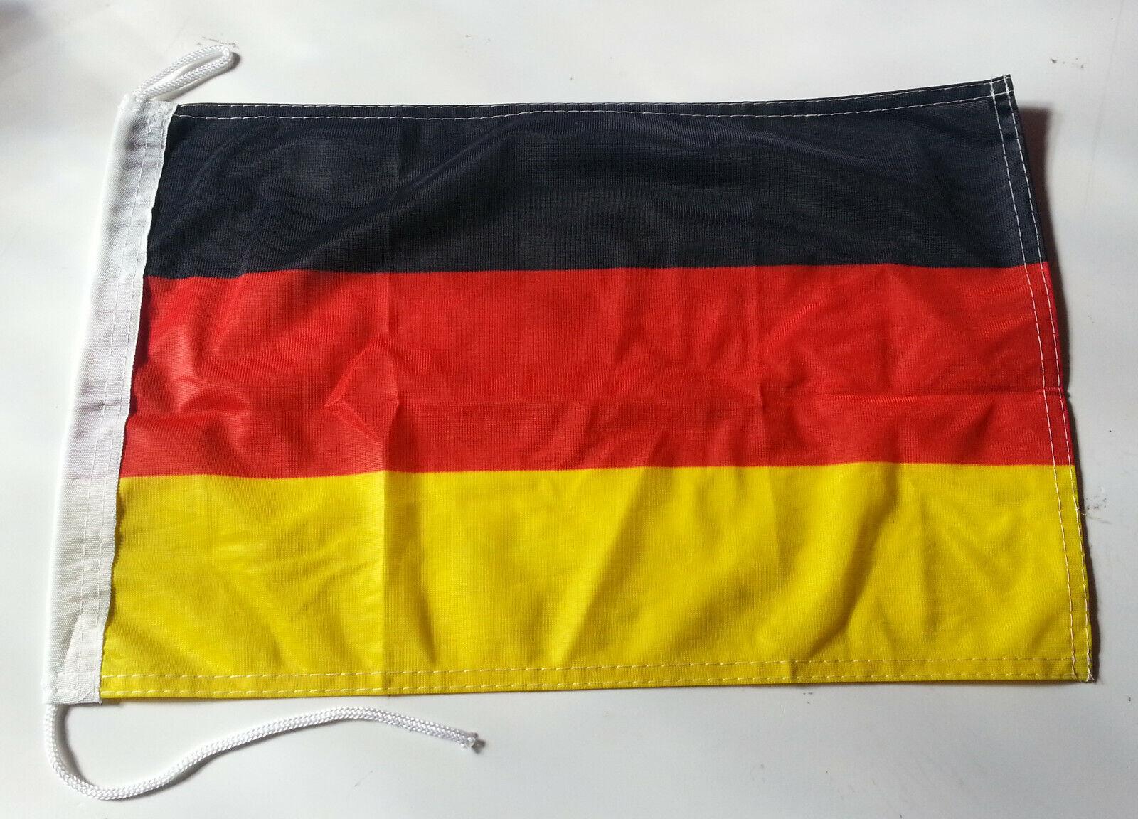 Deutschland  Bootsflagge Motorrad Schiff Boot Flagge Fahne 30x45 cm   NEU