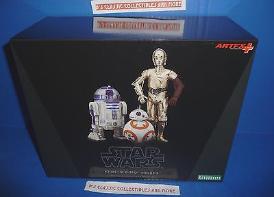 Star Wars R2 D2  C 3Po   Bb 8 Figures Artfx  Kotobukiya 1 10 Scale Model Kit New