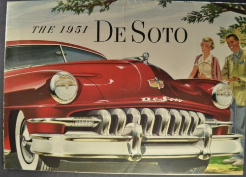 1951 DeSoto Catalog Brochure Convertible Sportsman Carry-All Nice Original 51