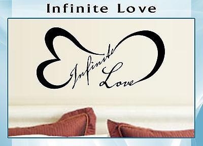 Love INFINITY Wall Art Decal Letter Word Vinyl QUOTE DECOR Sticker Bedroom (Love Letter Art)