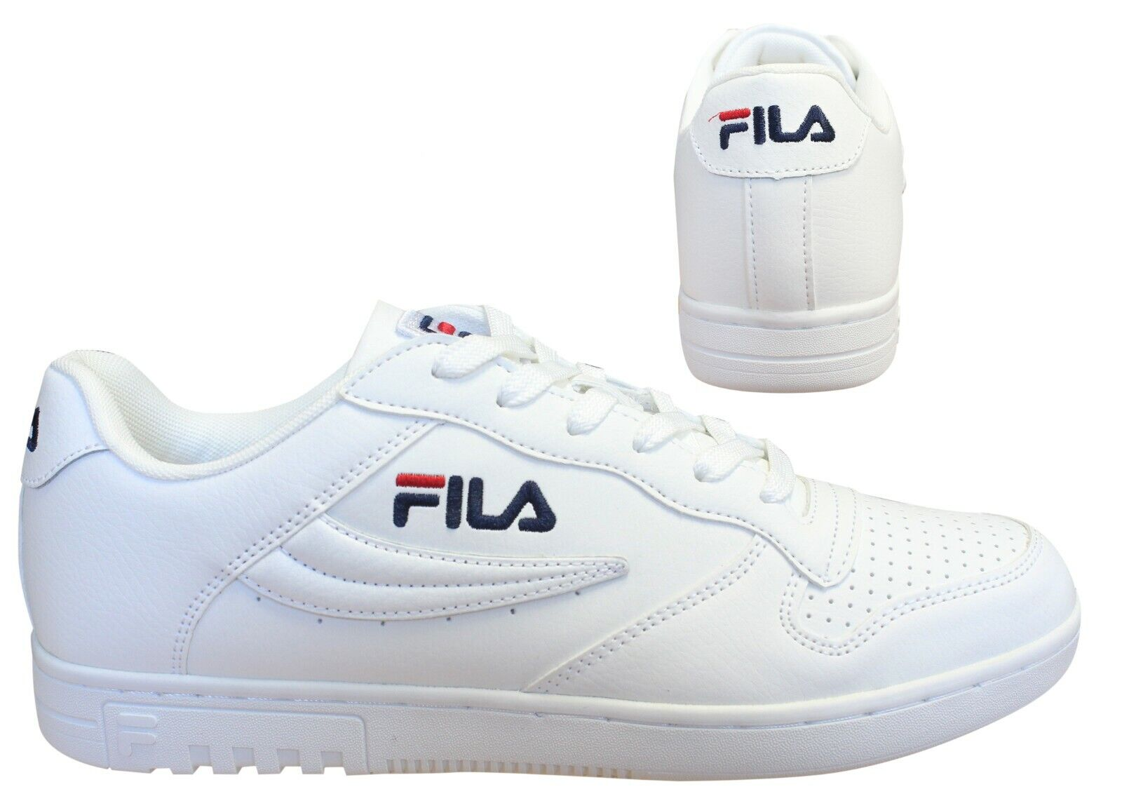 Details about Fila FX 100 Low White Lace Up Casual Sports Mens Trainers 1010260 1FG B0C