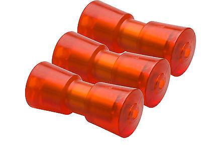 3 STÜCK STOLTZ Kielrolle Trailerrolle Rolle 200mm breit 16mm Hülse RP 8 NEU