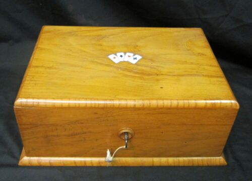 Vintage French Wooden Gambling Box