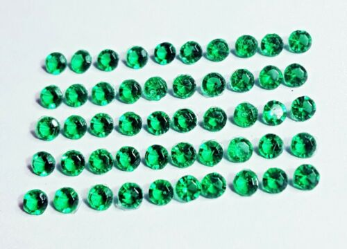 Loose Gemstones Zambia Emeralds Lot Total 50 Pieces 6 to 7 Ct With Free Shipping