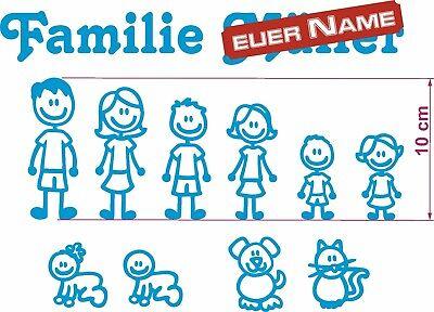 Tür-dekoration (Familie zum selber bauen Briefkasten Aufkleber Name Tür Kinder Deko Sticker)
