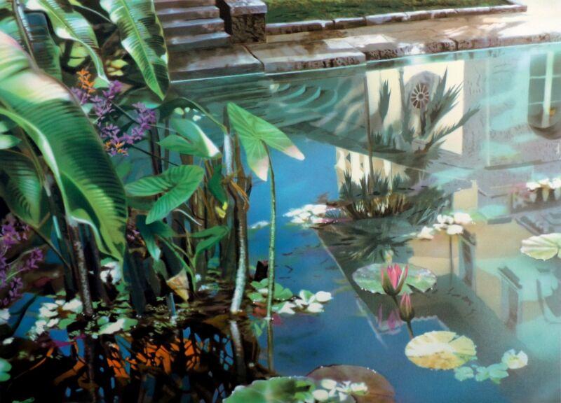 "David Kessler ""tangled Reflection"" Signed Numbered Lithograph Art Print Obo"