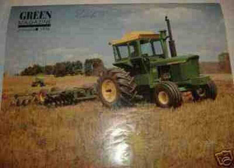 JOHN DEERE MODEL 6030 Tractor GREEN MAGAZINE JANUARY 1996