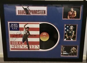 Bruce Springsteen signed and framed Record
