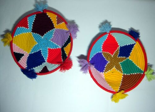 Handmade traditional wolle bread plates also used as walls decoration same size