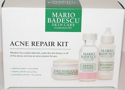 Mario Badescu Acne Repair Kit Drying Buffering 1 Oz Lotion Drying Cream 0.5 NIB