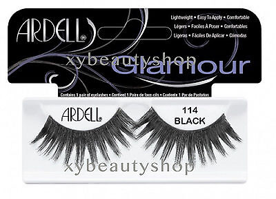 40 Pairs Ardell Natural 114 Glamour Fashion Lash Fake Eyelashes Black