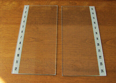 Wurlitzer 320 Wallbox Jukebox Selection Title Strip Glass Pair for sale  Shipping to South Africa