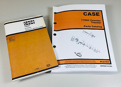 Case 1150c Crawler Tractor Bulldozer Parts Catalog Operators Manual Set