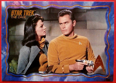 """STAR TREK TOS 50th Anniversary - """"THE CAGE"""" - GOLD FOIL Chase Card #46"""