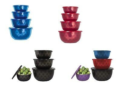 Microwave Safe Stainless Steel Mixing Serving Bowl Set - 4 Mixing Bowls With (Stainless Steel Bowl Set)