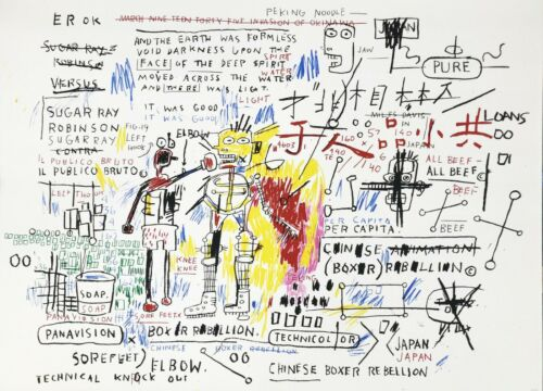 "Jean-michel Basquiat ""boxer Rebellion"" 2018 