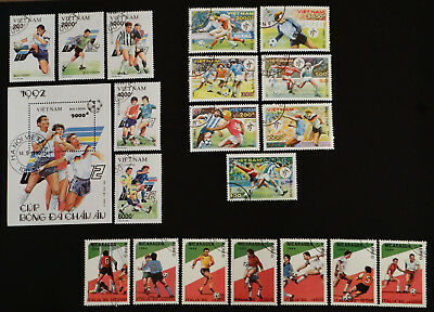 Philatelic STAMPS FROM OVER THE WORLD - 127/175/176 - SOCCER VIETNAM + NICARAGUA