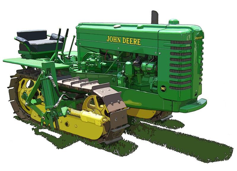 John Deere Model MC canvas art print by Richard Browne crawler tractor