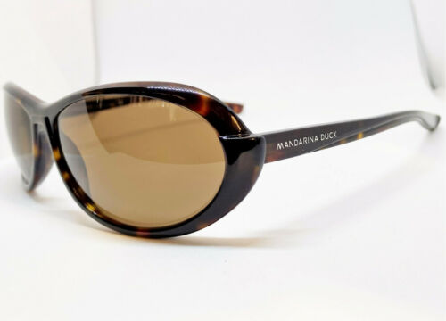 New True Vintage Mandarina Duck Dark Tortoise Sunglasses Made in Italy Women